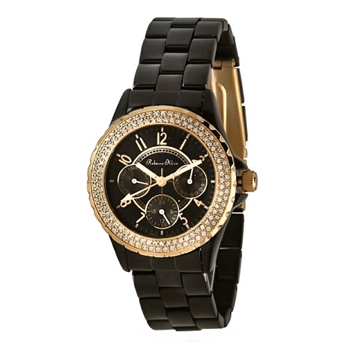 Milus Cirina CIR015 37 Stainless Steel Case Black Leather Band Anti-Reflective Sapphire Women's Watch