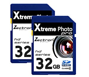 Trade Twin Pack 2 x 32GB SD SDHC High Speed Zectron Digital 64GB in Total Camera Memory Card FOR Panasonic Lumix DMC-TZ2