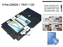 TCLINDIA ID PVC ID Card Tray for Epson L800, L810 & Printer + 5 Cards + CD
