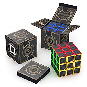 aGreatLife 3x3x3 Carbon Fiber Sticker Speed Cube: Expand Your Mind With Hour After Hour of Logical Fun - Easily Twist With Superior Cornering - Hand-Held Games That Educate