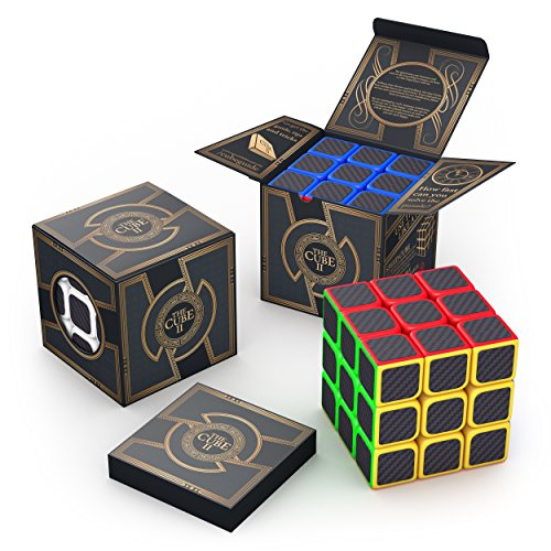 aGreatLife 3x3x3 Carbon Fiber Sticker Speed Cube: Expand Your Mind With Hours of Logical Fun - Easily Twist With Superior Cornering - Hand-Held Games That Educate (Chess Software For Kids compare prices)