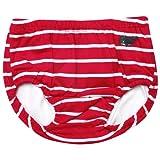 JoJo Maman Bébé B2748RWS612 - Traje de baño, razón: rayas, color: rojo / blanco