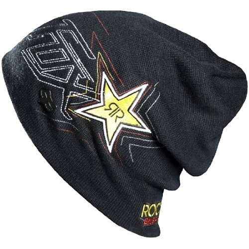 288fee195645b ... spain rockstar energy drink officially licensed fox star to finish mens  beanie racewear hat black one