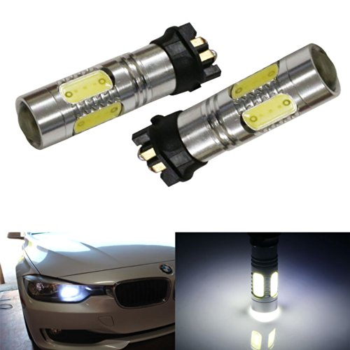 Ijdmtoy (2) Xenon White Error Free 7.5W Cob Pw24W Led Bulbs For 2012-Up Bmw F30 3 Series 328I 335I Halogen Trim'S Daytime Running Lights
