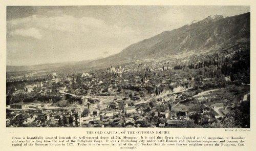 1933 Print Turkey Bursa Ottoman Empire Mount Olympus Mountain Cypress Aerial - Original Halftone Print