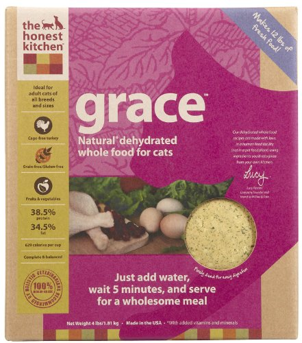 Detail image Honest Kitchen Grace, Natural Grain-Free Dehydrated Cat Food w/ Turkey, 4lb