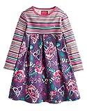 Baby Joules Girls Hayley Dress - Aubergine Bloom - 0/3 Months