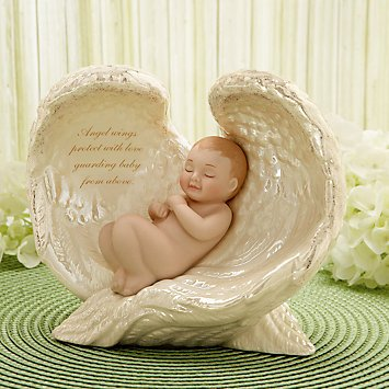 Exclusive Guardian'S Angel Wings Baby Figurine By Lenox front-854478