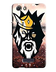 Blue Throat Man Face With Crown Printed Designer Back Cover/Case For Micromax Unite3 (Q372)