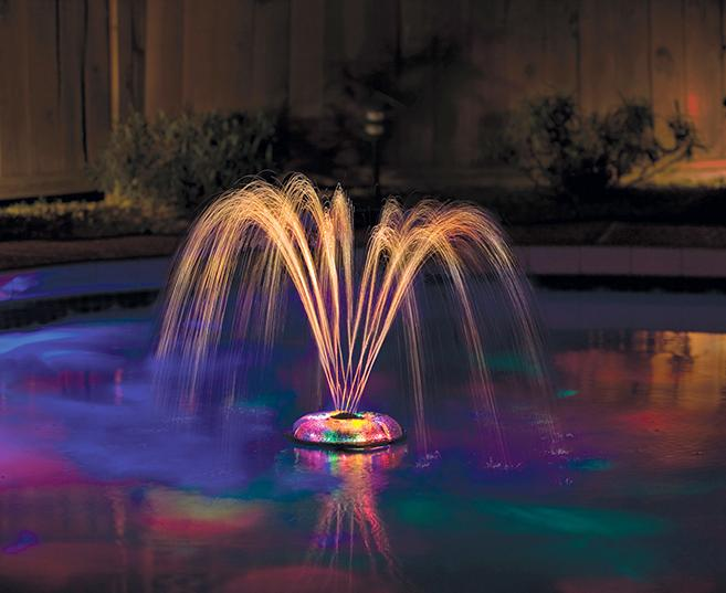 Underwater light show and fountain pool accessory swimming - Swimming pool fountains and lights ...