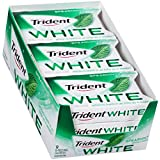 Trident White Sugar Free Gum (Spearmint, 16-Piece, 9-Pack) (Tamaño: Pack of 9)