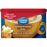 Maxwell House International Coffee Vanilla Caramel Latte, 8.7-Ounce Cans (Pack of 4)