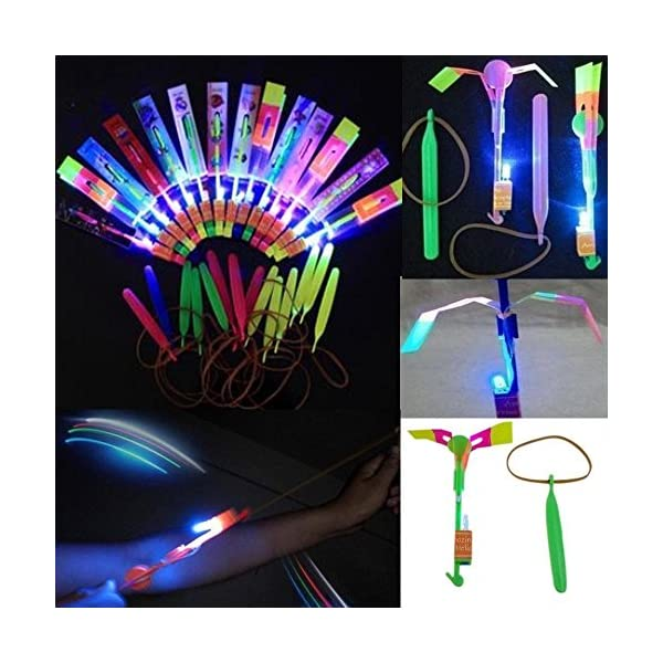 Led-Light-Arrow-Rocket-Helicopter-Flying-Toy-Party-Fun-Gift-Elastic