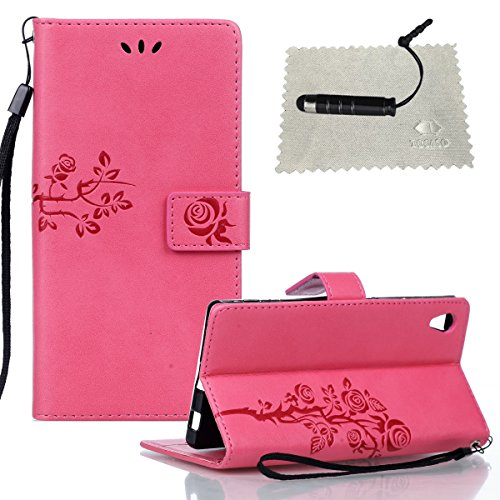 tocaso-pu-hulle-per-sony-xperia-z5-muster-entwurf-bluhende-rote-rosen-ultra-slim-leder-flip-cover-ta