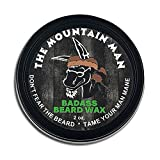 Badass Beard Care Beard Wax For Men - The Mountain Man Scent, 2 oz - Softens Beard Hair, Leaves Your Beard Looking and Feeling More Dense