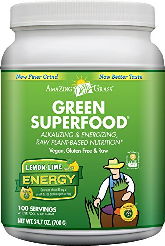 Amazing Grass Green Superfood Energy Lemon Lime, 100 Servings, 24.7 Ounces (100 Pure Lemon Juice compare prices)