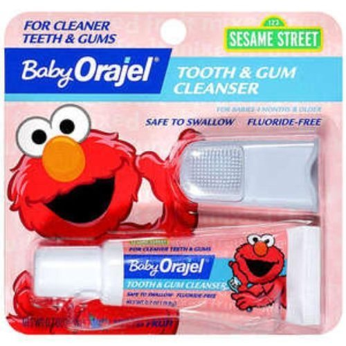 Baby Orajel Fluoride-free Toothpaste - Fruit (.7 Oz.) (Pack of 3) - 1