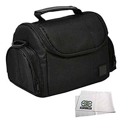 Medium Soft Padded Digital SLR Camera Travel Case/Bag with Clip-on Detachable and Adjustable Strap for Fujifilm FinePix SL300, S8200, S8300, S8400, S8500, S8600, S9200, SL1000, HS50EXR, X-T1, X-M1, X-E2, S1