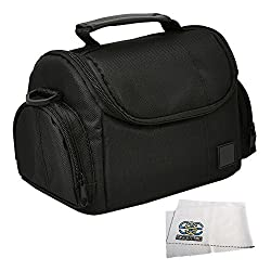 Medium Soft Padded Digital SLR Camera Travel Case/Bag with Clip-on Detachable and Adjustable Strap for Fujifilm FinePix XF1, X-E1, X-E2, X-PRO1, X10, X20, X30, X100, X100S, X100T & More