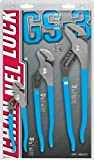 Channellock 3 Piece 9-1/2-Inch, 6-1/2-Inch, and 12-Inch Tongue and Groove Plier Gift Set