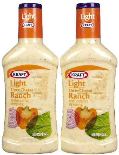 Kraft Light Three Cheese Ranch RF Dressing, 16 oz, 2 pk (Pasta Salad Dressing compare prices)