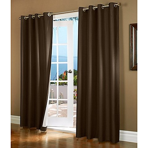 Gorgeous Home (#37) 1 PANEL PRINTED SHEEN FAUX BROWN CHOCOLATE 84