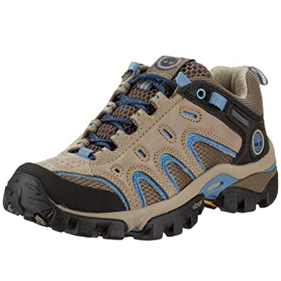 Timberland Women's Hypertrail Low Hiking Shoe (Greige/ Blue) - 5