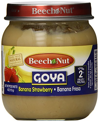 Beech Nut Stage 2 Goya Jar, Banana Strawberry, 4 Ounce (Pack Of 10)