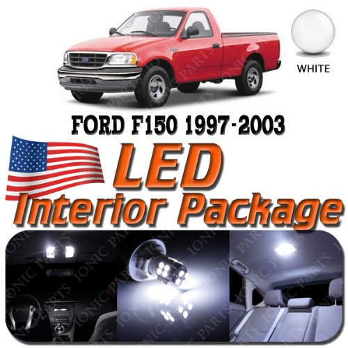 Super White 7 Light Bulbs Led Smd Interior Package - Ford F150 (2 Door Only) 1997-2003