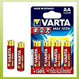 Varta 4706 Max Tech Mignon AA Batterie, 4 Stück