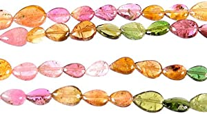 Water Melon Tourmaline Straight Drilled Briolette -