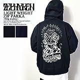 ゼファレン ZEPHYREN LIGHT WEIGHT ZIP PARKA -Sing as pray- BLACK L