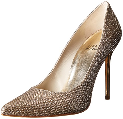 Stuart Weitzman Women's Nouveau Dress Pump, Platinum, 10.5 M US