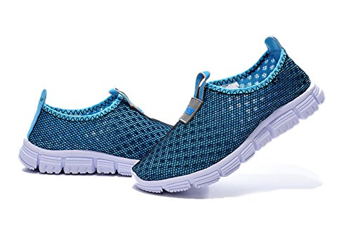 Breathable Running Sport Tennis Shoes,Beach Aqua, Outdoor,Athletic,Rainy,Skiing,Walking,Slip on Water,Flat Casual Kid Shoes Blue US3/EU35/22.0CM (Water Shoes Girls compare prices)