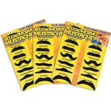 Allures & Illusions Fake Mustache Novelty and Toy, Pack of 36 Mustaches