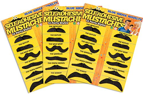 Pack of 36 Mustaches