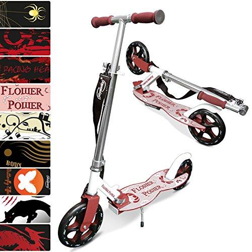 Physionics Monopattino scooter due ruote regolabile per adulti e bambini modello Flowerpower