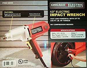 NEW Electric 1/2 in Impact Wrench Gun Reversible Corded REMOVES LUG