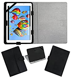 ACM LEATHER FLIP FLAP TABLET HOLDER CARRY CASE STAND COVER FOR DIGIFLIP PRO XT911 BLACK