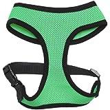 OxGord Pet Control Harness for Dog & Cat Easy Soft Walking Collar - Vehicle Safety Strap Vest - Medium Hunter Green