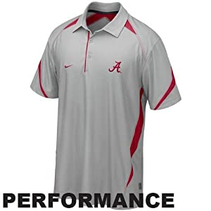Nike alabama crimson tide gray 2010 play for Alabama crimson tide polo shirts