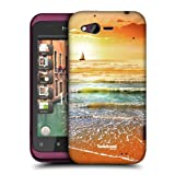 Head Case Designs Sunset and Sailboat Seascape Beautiful Beaches Hard Back Case Cover for HTC Rhyme