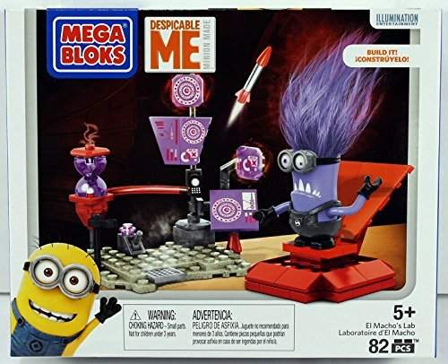 Mega-Bloks-Despicable-Me-Minions-El-Machos-Lab-Set-86-Pcs-Ages-5