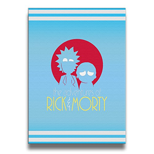 PHOEB Indoor Decorations - Rick And Morty Adventures Frameless Picture Frame For 16x20 Inch Photo - Displays Prints, Posters, Photos, Kids Work In Home, Office, (Mad Dog Animated)
