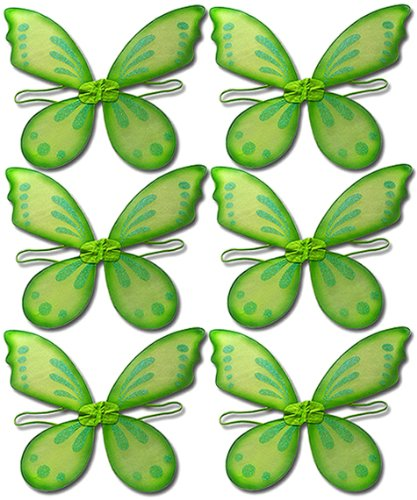 Green Pixie Wings Assortment (6 pcs)