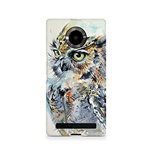 Mobicture Owl Premium Printed Case For Micromax YU Yuphoria