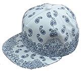 REWARD ペイズリー 柄 キャップ 帽子 ベースボールキャップ BBキャップ  REWARDオリジナル ブレスレット 付き (ホワイト)