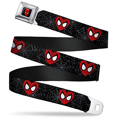 Spiderman Heart Mask Seatbelt Belt