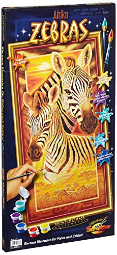 60 922 0473 - Painting By Number, Zebras, 40x80 Cm By Schipper