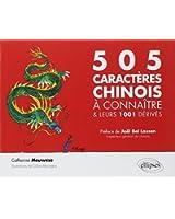 Les 505 caractères chinois à connaître